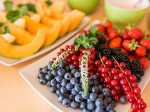 Frisches Obst auf dem Buffet