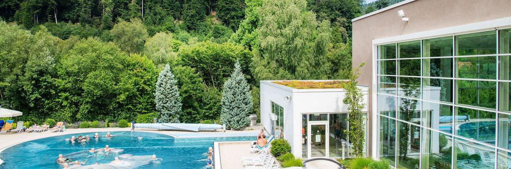 Außenbecken der Paracelsus Therme in Bad Liebenzell